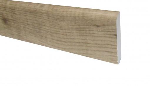 Klick Vinyl Sockelleiste Eiche Bassano Holzoptik 2200 x 70 x 10 mm