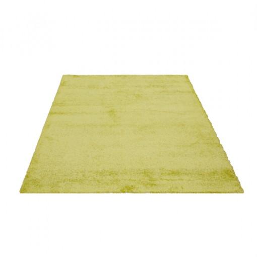 Teppich Grün einfarbig 060x115 cm, Hochflor