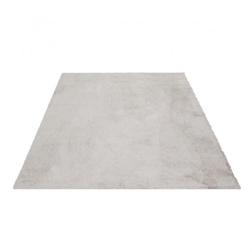 Teppich Taupe einfarbig 060x115 cm, Hochflor