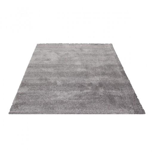 Teppich Grau einfarbig 080x150 cm, Hochflor