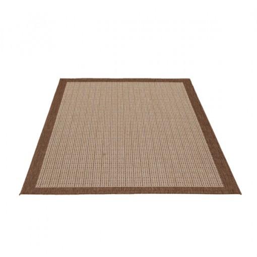 Teppich Beige gemustert 200x290 cm, Flachgewebe