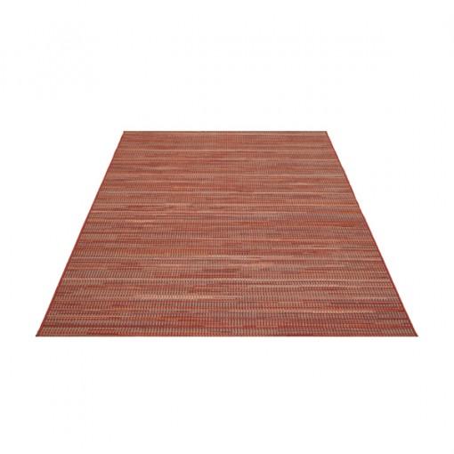 Teppich Rot gemustert 140x200 cm, Flachgewebe