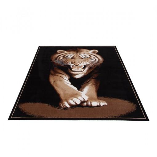 Teppich Tiger Braun Motiv 160x225 cm, Frisee Modern