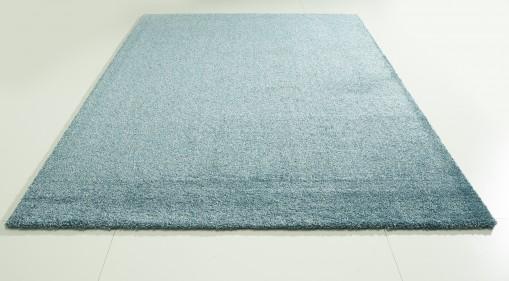 Teppich Blau einfarbig 120x170 cm, Hochflor