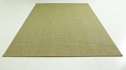 Teppich Grün einfarbig 120x170 cm, Flachgewebe, In- und Outdoor