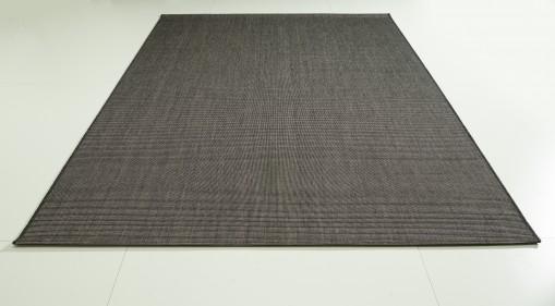Teppich Schwarz einfarbig 120x170 cm, Flachgewebe, In- und Outdoor