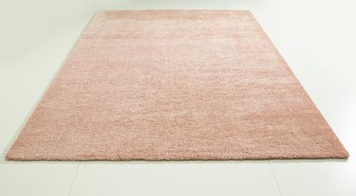 Teppich Apricot einfarbig 160x230 cm, Hochflor