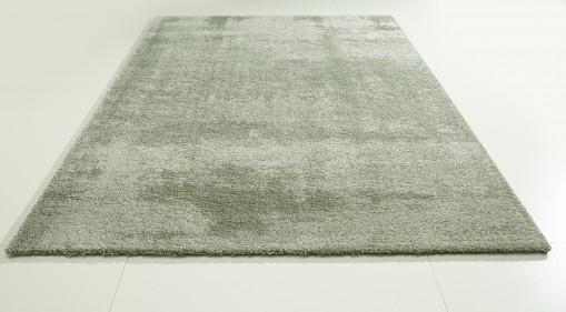 Teppich Grün einfarbig 200x290 cm, Hochflor