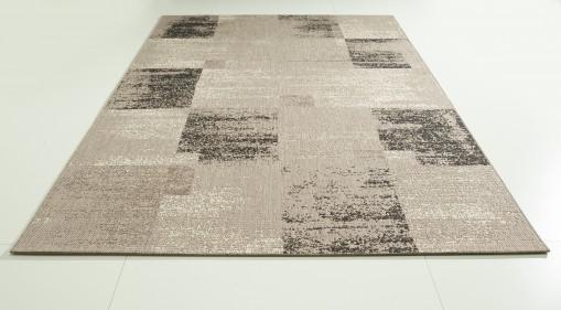 Teppich Grau gemustert 120x170 cm, Flachgewebe