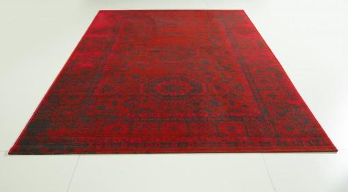 Teppich Rot gemustert 160x230 cm, Frisee Modern
