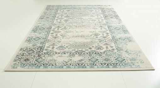 Teppich Türkis gemustert 160x230 cm, Frisee Modern