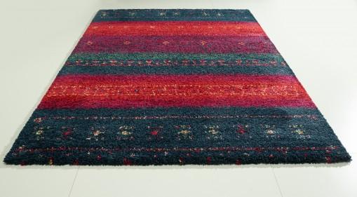 Teppich Rot-Blau gemustert 160x230 cm, Frisee Modern
