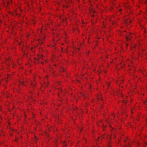 Teppichfliese Largo Rot 50 x 50 cm, besonders Schmutz abweisend