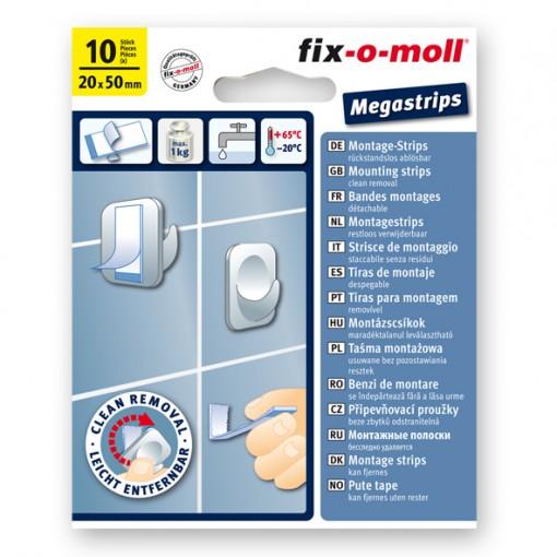 Megastrips fix-o-moll, rückstandslos ablösbar, 10 Stück