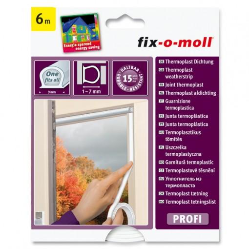 Thermoplast Hohlprofil-Dichtung fix-o-moll, transparent, 6m x 9mm x 7mm