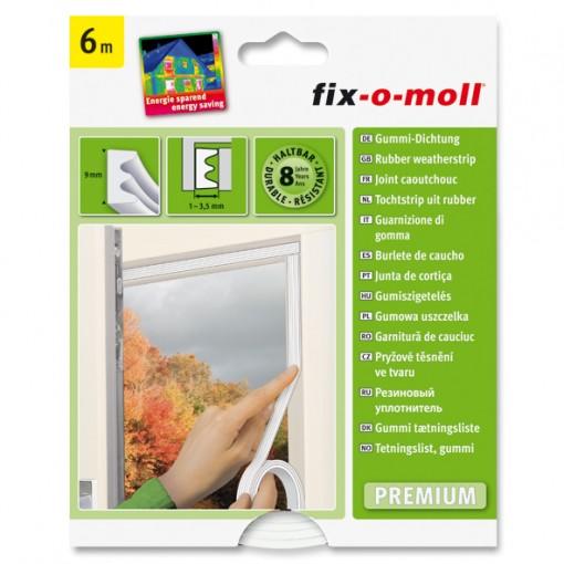 E-Profil Gummidichtung fix-o-moll, Weiß, 6m x 9mm x 4mm