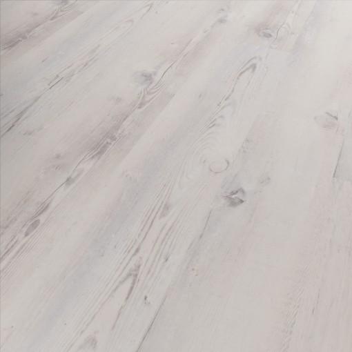 Klick Vinyl Diele Basico Campebeltown Holzoptik Vintage weiß, umlaufende V-Fuge