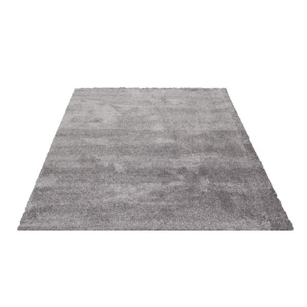 Teppich Grau Einfarbig 060x115 Cm Hochflor Klick Vinyl Boden De