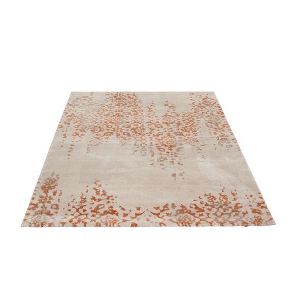 teppich beige orange gemustert 060x115 cm hochflor klick vinyl. Black Bedroom Furniture Sets. Home Design Ideas