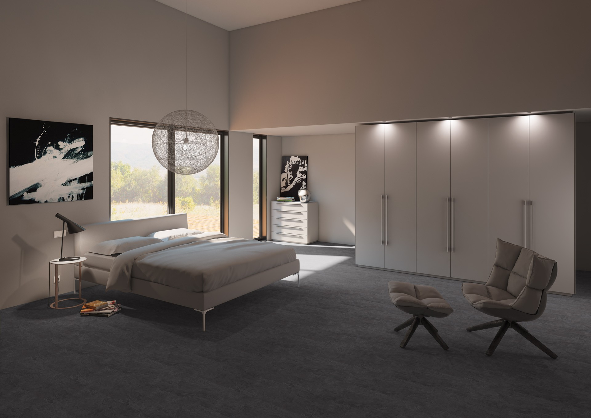 klick vinyl fliese basico ibiza schiefer dunkel klick vinyl. Black Bedroom Furniture Sets. Home Design Ideas