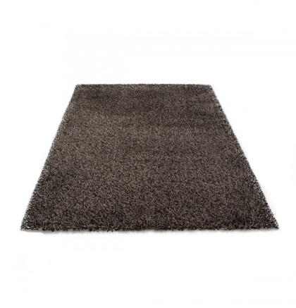 Teppich Schwarz einfarbig 080x150 cm, Hochflor