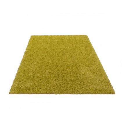 Teppich Grün einfarbig 080x150 cm, Hochflor