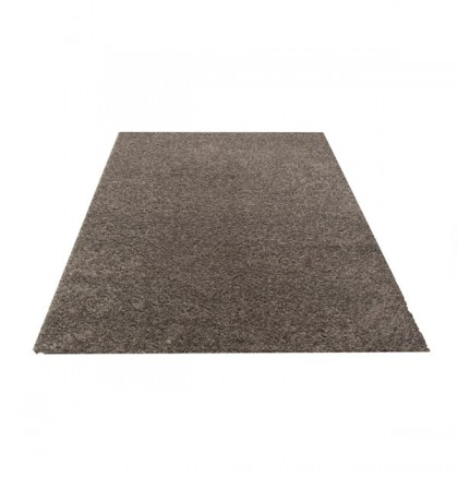 Teppich Silber einfarbig 060x115 cm, Hochflor