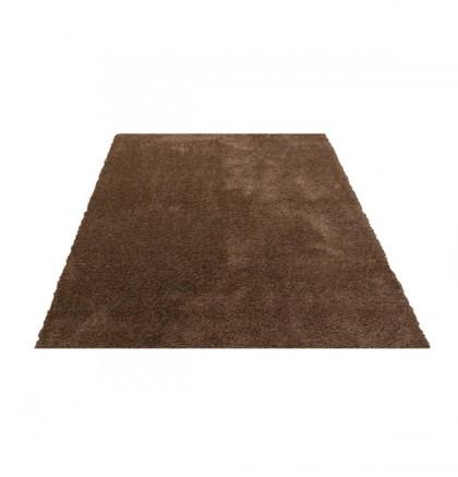 Teppich Braun einfarbig 060x115 cm, Hochflor