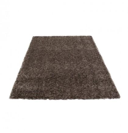 Teppich Braun einfarbig 080x150 cm, Hochflor