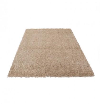 Teppich Natur einfarbig 080x150 cm, Hochflor