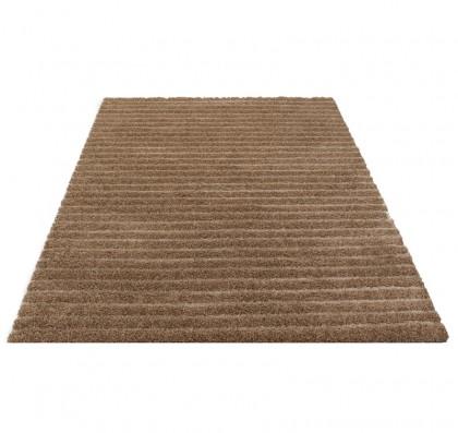 Teppich Braun einfarbig 080x150 cm, Frisee Modern