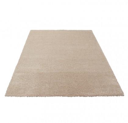 Teppich Beige einfarbig 080x150 cm, Frisee Modern