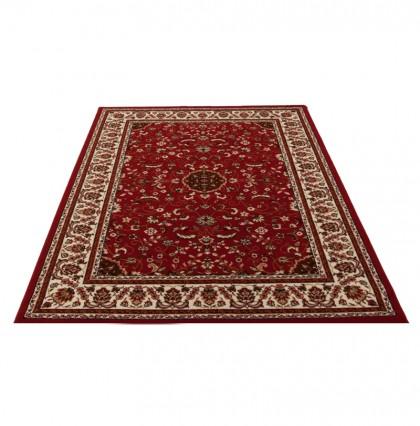 Teppich Rot gemustert 080x150 cm, Frisee Klassik