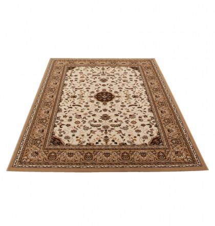 Teppich Beige gemustert 060x110 cm, Frisee Klassik