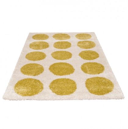 Teppich Beige-Grün gemustert 080x150 cm, Frisee Modern
