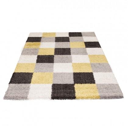 Teppich Grau-Grün gemustert 080x150 cm, Frisee Modern