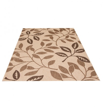Teppich Beige gemustert 120x170 cm, Flachgewebe