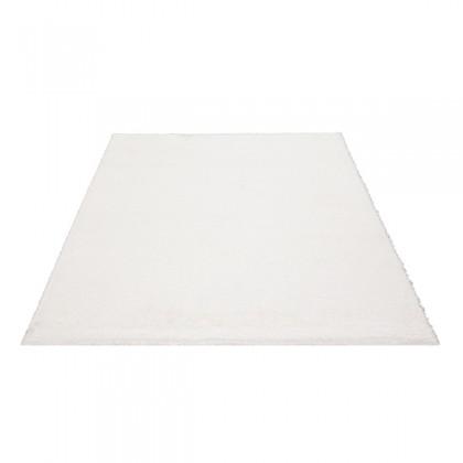 Teppich Weiß einfarbig 080x150 cm, Hochflor