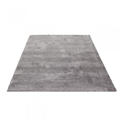Teppich Grau einfarbig 060x115 cm, Hochflor