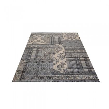 Teppich Blau gemustert 080x150 cm, Frisee Klassik