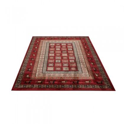 Teppich Orient Rot gemustert 080x150 cm, Frisee Klassik