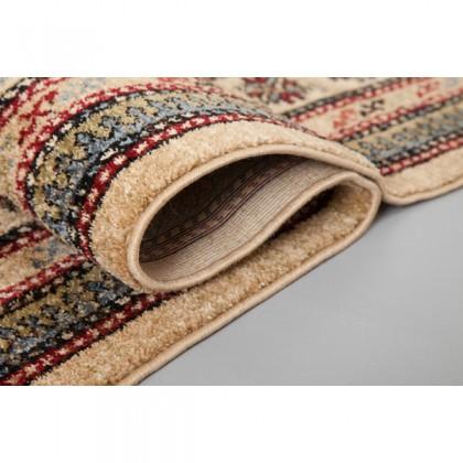 Teppich Orient Beige gemustert 080x150 cm, Frisee Klassik