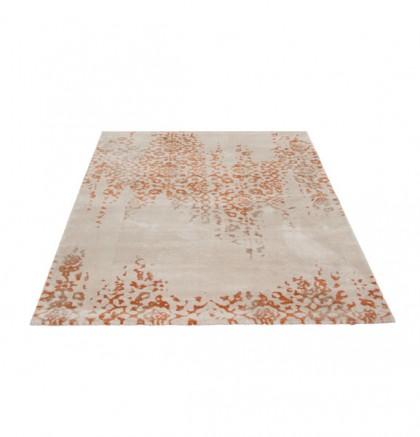 Teppich Beige-Orange gemustert 060x115 cm, Hochflor