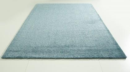 Teppich Blau einfarbig 080x150 cm, Hochflor