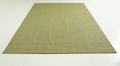 Teppich Grün einfarbig 080x150 cm, Flachgewebe, In- und Outdoor