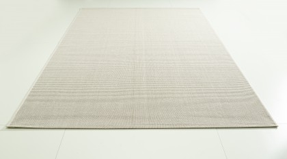 Teppich Weiß einfarbig 120x170 cm, Flachgewebe, In- und Outdoor