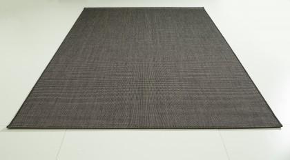 Teppich Schwarz einfarbig 080x150 cm, Flachgewebe, In- und Outdoor