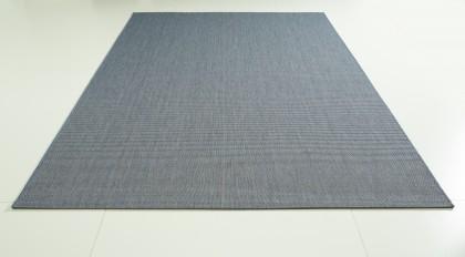 Teppich Blau einfarbig 120x170 cm, Flachgewebe, In- und Outdoor