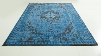 Teppich Blau gemustert 140x200 cm, Frisee Modern