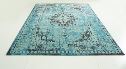 Teppich Türkis gemustert 200x290 cm, Frisee Modern